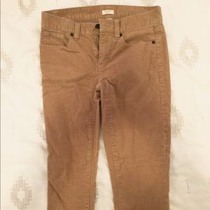 J Crew Corduroy skinny jeans tan 00